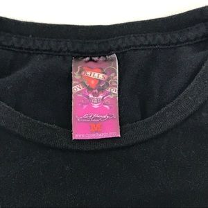 Ed Hardy Shirts - VGUC Ed Hardy Black T Shirt Medium